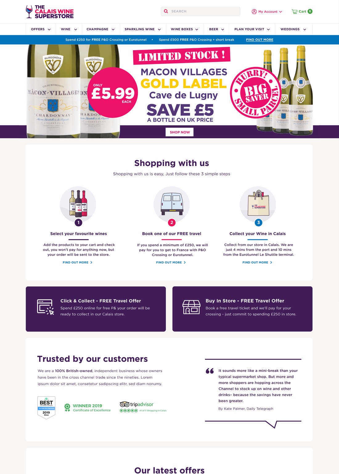 Calais wine top