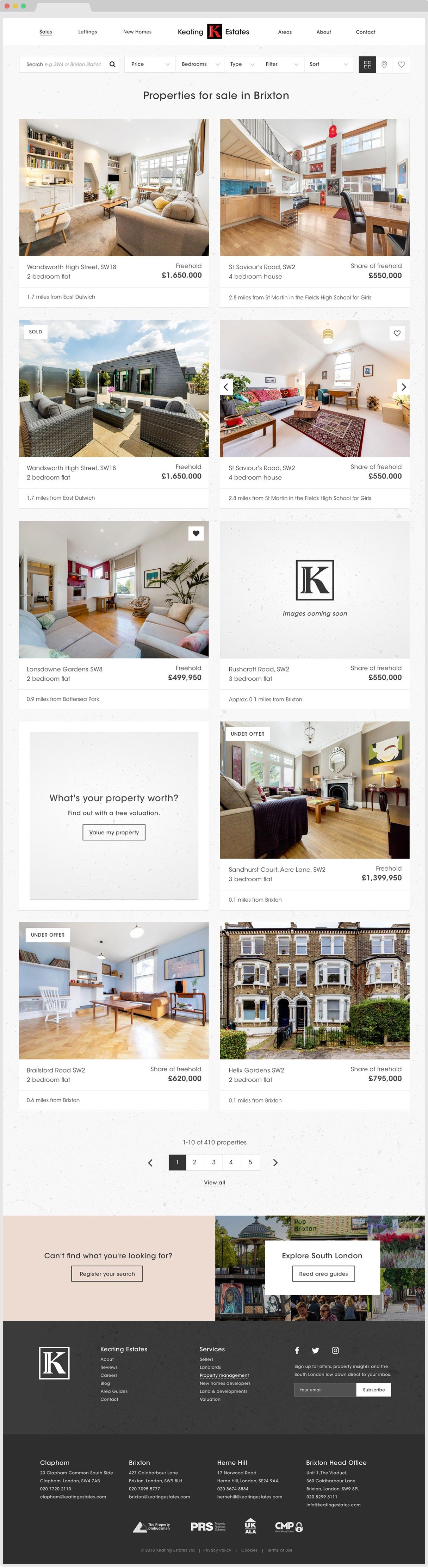 Keating properties