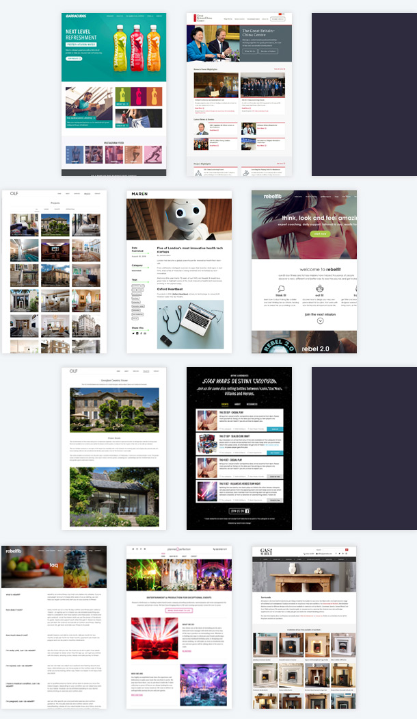 Web Design Work Examples